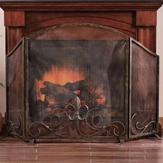 Fleur de Lis Fireplace Screen by SPI Home $220, You Save ...