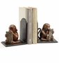 Monkey with Tablet Bookends by SPI Home