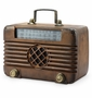 Old Time Radio with Bluetooth Speaker Sculpture by SPI Home