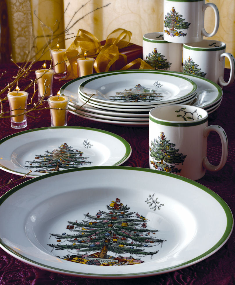 Spode Christmas Tree China Sale: Spode Christmas Tree 12 Piece Dinnerware Promo Set $129.99