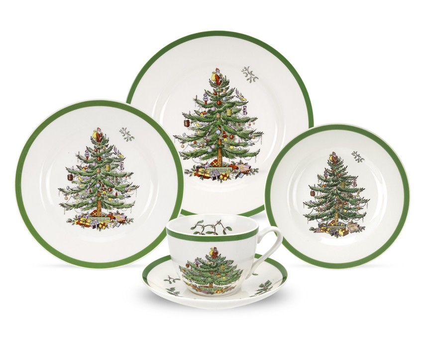 Spode Christmas Tree 5-Piece Placesetting $78.5, You Save