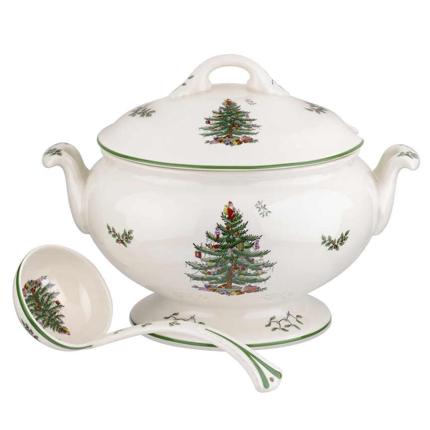 Spode Christmas Tree China Sale: Spode Christmas Tree Anniversary Footed Tureen & Ladle