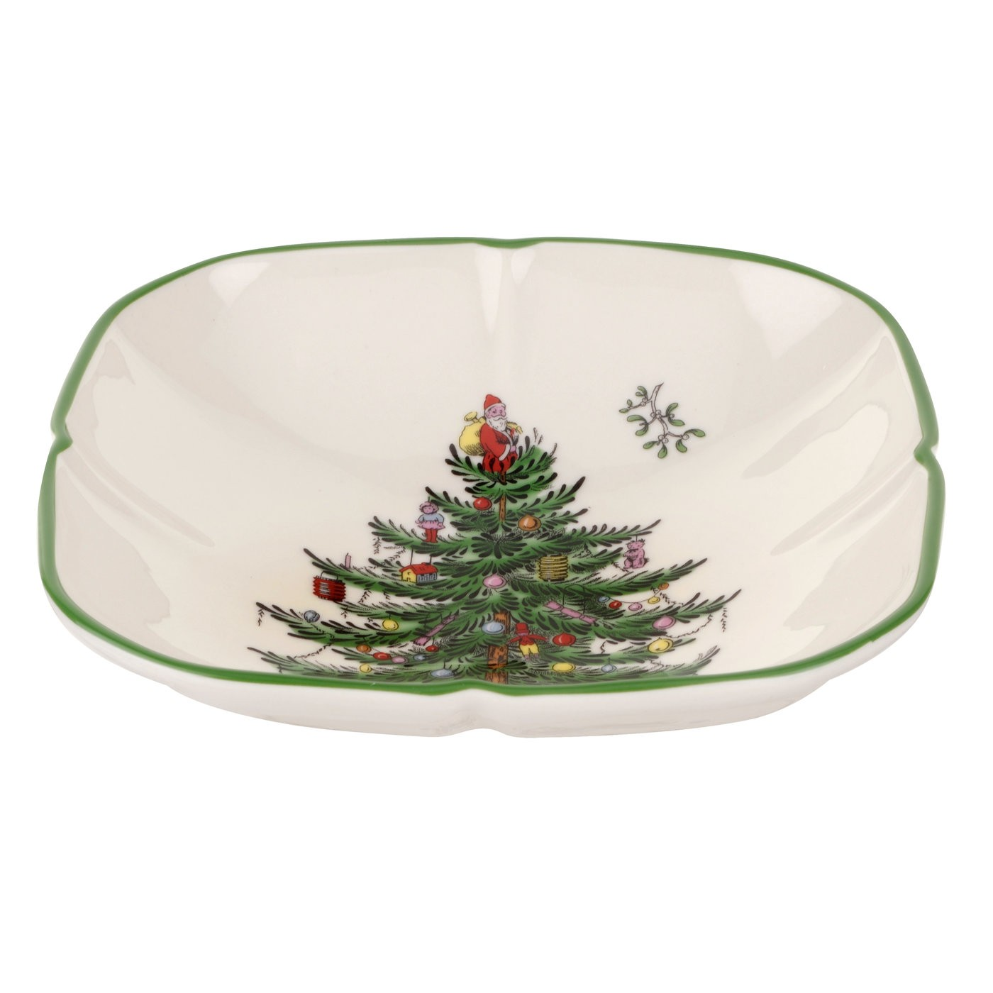 Spode Christmas Tree China Sale: Spode Christmas Tree Sculpted Square Dish $9.99, You Save