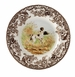 "Spode Woodland Hunting Dogs 8"" Salad Plate - Flat Coated Pointer"
