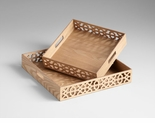 Square XOXO Wood Trays by Cyan Design