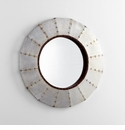 Steel Wheel Mirror by Cyan Design