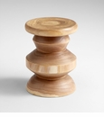 Summer Swirl Turned Walnut Stool by Cyan Design