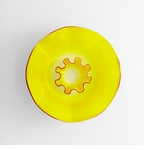 Sunshine Splash Art Glass Plate by Cyan Design