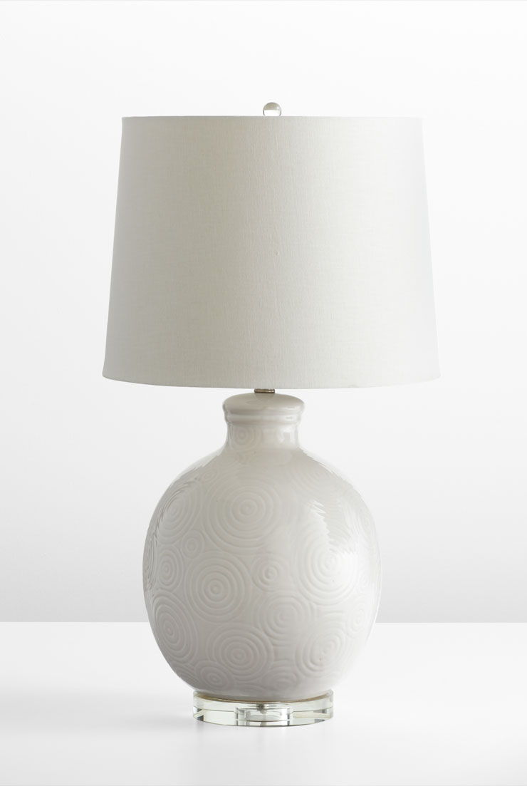 suri white ceramic table lamp by cyan design. Black Bedroom Furniture Sets. Home Design Ideas