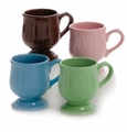 Sweet Shoppe Assorted Pedestal Mugs (4) by Hues and Brews
