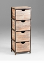 Talford Four Drawer Standing Storage Rack by Cyan Design
