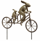 Tandem Bicycle Bunnies Garden Sculpture by SPI Home