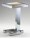 Tandy Chrome and Marble Accent Table by Cyan Design