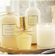 Thymes Goldleaf & Goldleaf Gardenia Fragrance Collection