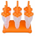 Tovolo Rocket Ice Pop Molds Orange (Set of 6)