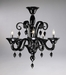 Treviso 5 Light Black Glass Chandelier by Cyan Design