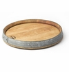 True Fabrications Wine Barrel Lazy Susan Tray