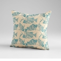 Turquoise/White Angler Pillow by Cyan Design