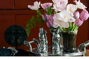 Vagabond House Pewter Candlesticks