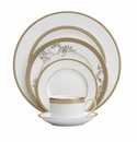 Vera Wang China Vera Lace Gold 5 Piece Place Setting