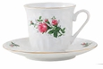 Victorian Rose Porcelain Tea Cup & Saucer Sets (6)