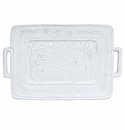 Vietri Bellezza Holiday Snowman Rectangular Platter