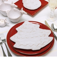 Vietri Bellezza Santa White Holiday Accent Dinnerware
