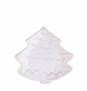 Vietri Bellezza Santa White Tree Salad Plate