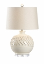 Vietri Carlotta Lamp - Aged Cream Ceramic Table Lamp