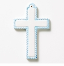 Vietri Croce Blue Ceramic Cross Ornament