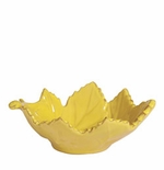 Vietri Fantasia Yellow Small Grape Leaf Bowl