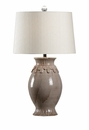 Vietri Giovanni Ceramic Table Lamp - Grey