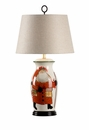 Vietri Large Hand Painted Old St. Nick Ceramic Table Lamp