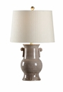 Vietri Luca Ceramic Table Lamp - Grey