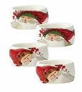Vietri Old St. Nick Assorted Oval Napkin Rings