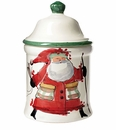 Vietri Old St. Nick Large Canister