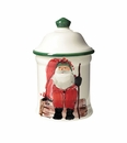 Vietri Old St. Nick Small Canister