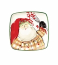 Vietri Old St. Nick Square Canape Plate