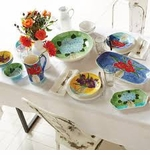 Vietri Pottery Italian Dishes, Flatware, Garden Pots & Lamps