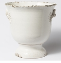 Vietri Rustic Garden White Large Rope Footed Cachepot