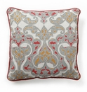 Villa Accent Pillow 18 x 18 Soleil with Red Piping