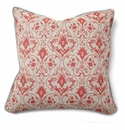 Villa Accent Pillow 22 x 22 Tuscan Red Gate with Aqua