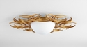 Vivian 2 Light Ceiling Mount Gold by Cyan Design