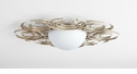 Vivian 2 Light Ceiling Mount Silver by Cyan Design