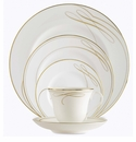 Waterford Ballet Ribbon Gold 5 Piece Place Setting