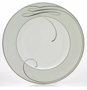 Waterford Ballet Ribbon Mint Satin Accent Plate, 9""