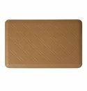 "Wellness Mats Anti-Fatigue Floor Mat Moire Tan - 36""L x 24""W"