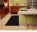 Wellnessmats Anti-Fatigue Kitchen Floor Mat-Black-6x3