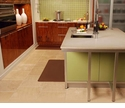 Wellnessmats Anti-Fatigue Kitchen Floor Mat-Brown-3x2