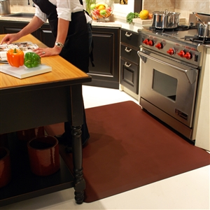 Wellnessmats Anti Fatigue Kitchen Floor Mat Burgundy 5x4